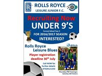 U9's WANTED