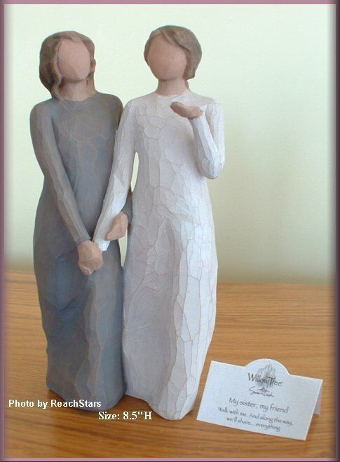 My Sister My Friend Figure From Willow Tree® Angels Free U.s. Shipping