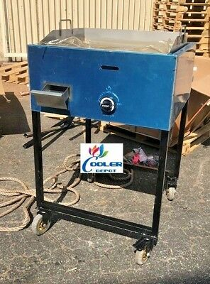 New 24 Outdoor Griddle Taco Grill Cart Propane Use Carne Asada Burgers Hot Dogs