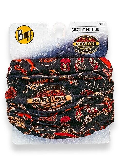 SURVIVOR BUFF 20 YEARS 40 SEASONS ANNIVERSARY Black & Red Original CBS Buff New