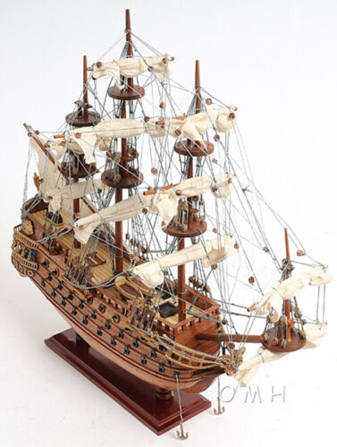 "San Felipe Spanish Galleon Tall Ship Wooden Model 19"" Fully Assembled Sailboat"
