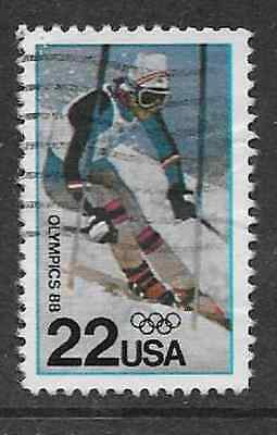 UNITED STATES POSTAL ISSUE -1988 - USED COMMEMORATIVE STAMP - OLYMPICS CALGARY