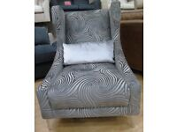 Swirl Print Arm Chair