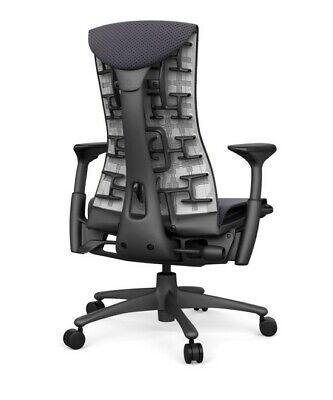 New Embody Office Desk Chair -by Herman Miller - Grey Rhythm Fabric