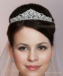 Bridal Wedding Party Prom Accessory Butterfly Tiara use Swarovski Crystal T1461
