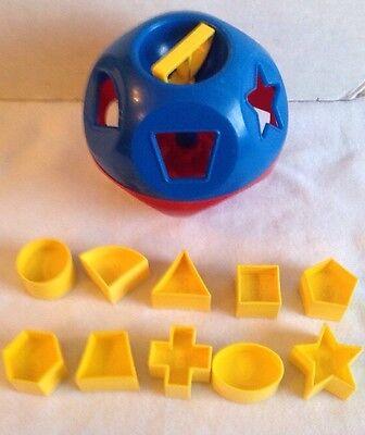 Tupperware Shape O Toy Ball Tuppertoys Shapes Sorter Complete Learning EUC