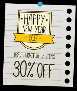 2017 New Year Sale All Used Furniture 30% OFF - Come us and take a look at 'em. Burnaby, BC