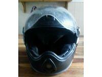 A used full face bike helmet