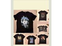 Guns n Roses/Slayer/Hendrix/Gilmour/Zeppelin T Shirts & Badges-Medium