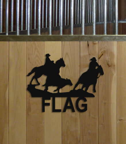 COWBOY CUTTING HORSE STALL SIGN - EQUESTRIAN DECOR - HORSES - SADDLES