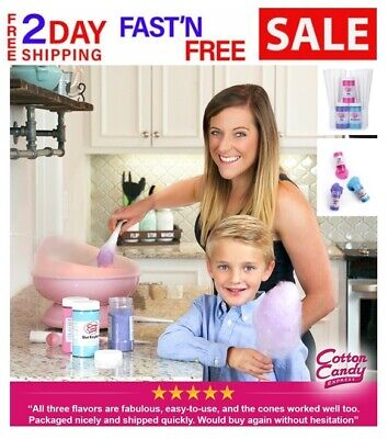 New Cotton Candy Express Fun Pack Floss Sugar And Cones Kit Candy Maker Supplies