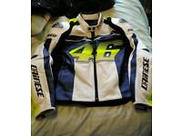 Dainese VR46 D1 Leather motorcycle Jacket