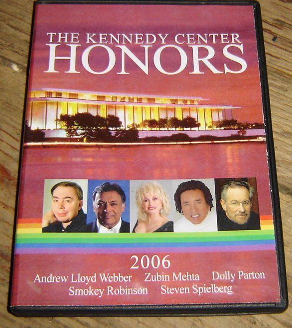 2006 KENNEDY CENTER HONORS DVD, DOLLY PARTON Smokey Robinson ANDREW LLOYD WEBBER - $21.99