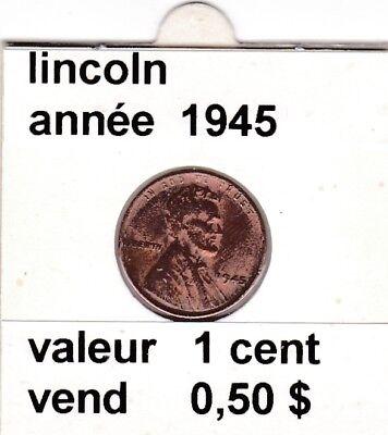 e 3)pieces de 1 cent  lincoln   1945