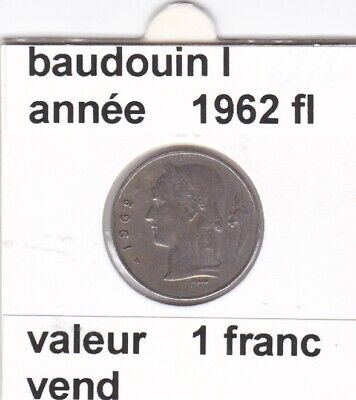 BF 3 )pieces de 1 francs  baudoui 1   1962  belgie  voir descrition