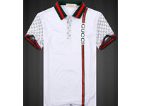 Men's Brand New White GUCCI Polo Shirt uk sizes 42 & 44 inch chest