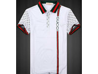 Men's Brand New White GUCCI Polo Shirt uk size 42 & 44 inch chest