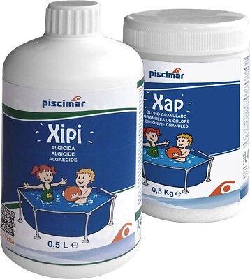 Kit Piscimar Xipi-Xap: productos para el tratamiento de piscinas pequeñas. Bote