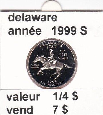 e 3)pieces de 25 cent  delaware   1999  S