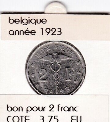FB 3 )pieces de albert I   2 franc  1923 belgique