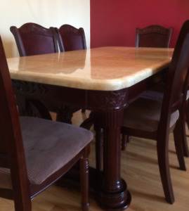 High Quality Real Marble Dinning Room Table + 6 chairs