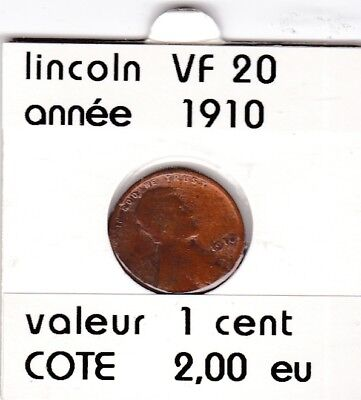 e1 )pieces de 1 cent lincoln  1910