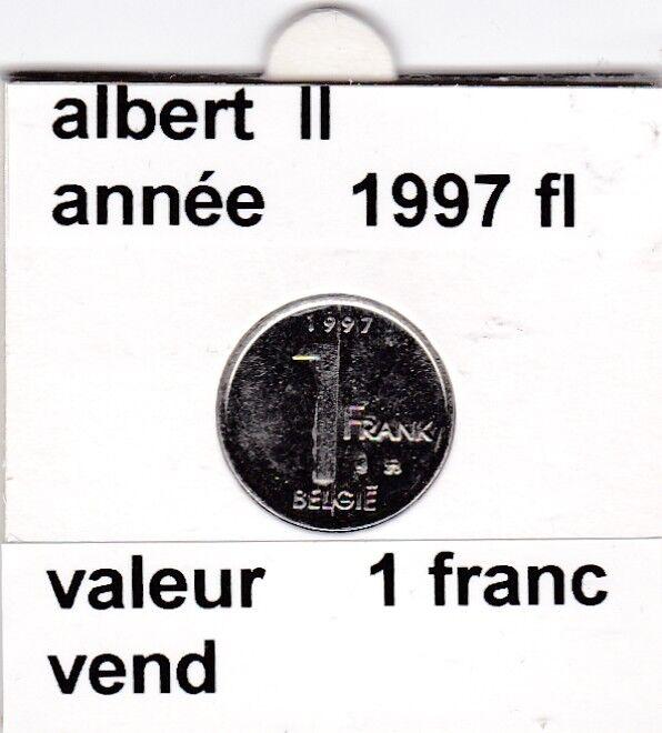 FB 2 )pieces de albert II  1 francs 1997   belgie