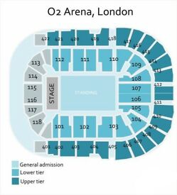 2 x Kasabian Tickets at the 02 London on Fri 1st Dec (Block 106, Row R) £20 each (or best offer)