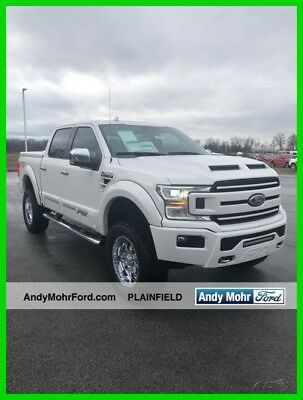 New 18 Ford F150 Lariat 5L V8 32V 4x4 Pickup Work Truck Tuscany White Leather
