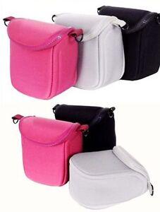 black ultra light neoprene bag case for Canon EOS M10 with 15-45mm lens kit New