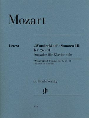 Mozart Wunderkind-Sonaten Klavier solo Bd. 3 (Henle)