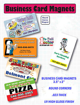 BUSINESS CARD - MAGNETS - FULL COLOR - 2000 - Custom Printed