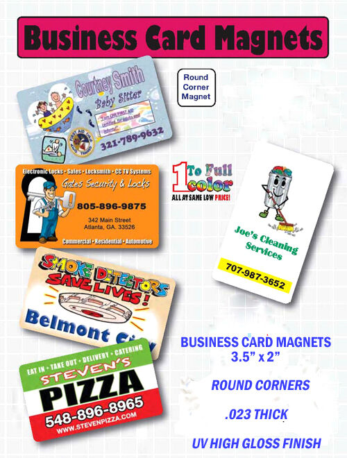 BUSINESS CARD - MAGNETS - FULL COLOR - 2000 - Custom Printed - FREE SAMPLE