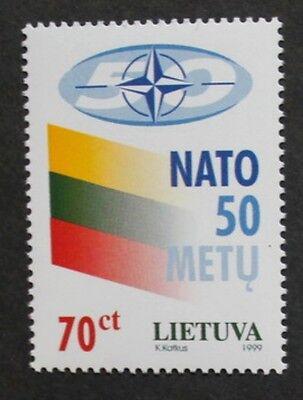 50th anniversary of North Atlantic treaty organisation stamp, 1999, Lithuania