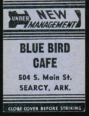 SEARCY AR Blue Bird Cafe Vtg Restaurant Advertising Blue Match Book Cover Old MB