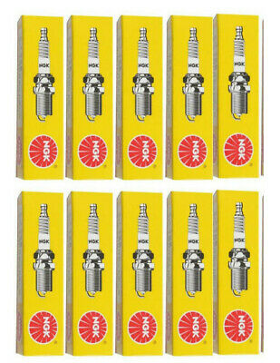 Set of 10 - NGK Standard Spark Plugs-IN Stock BPR9ES-  #7788 - Solid Tip - SNOW!