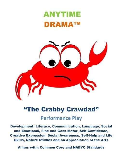 Crabby Crawdad - environmental play, recycling, earth day - Pre-K - K-Primary
