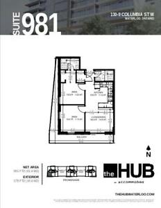 Discounted rate: 2 bedrooms at the HUB, 130 Columbia St Waterloo
