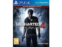 Uncharted 4: A Thief's End PS4 with reversible cover