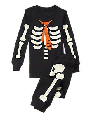 Glow In The Dark Pyjamas (NWT Gymboree Skeleton Costume Glow-in-the-Dark Gymmies Sleep Set Pajamas 10)