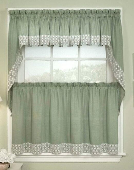 Salem Kitchen Curtains - 5 colors - Tiers, Swags, Valances -