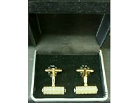 Gold Plated Mont Blanc Style Cufflinks