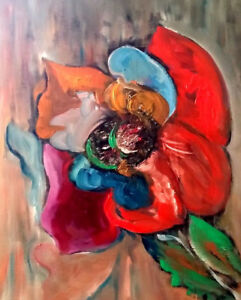 """""""Special Flower"""", abstract oil painting"""