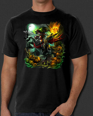 Sleepy Hollow Headless Horseman Halloween Horror New T-Shirt S-6XL
