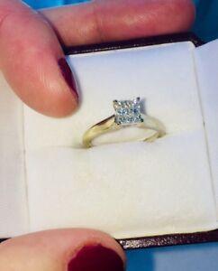 Beautiful 18kt White Gold Diamond Ring- REDUCED $350