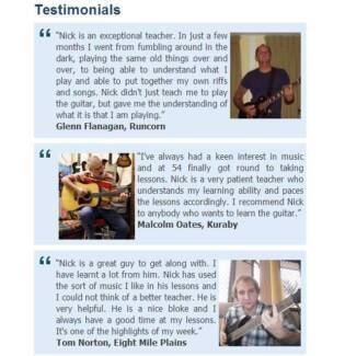 Guitar Lesson Gift Certificates - Brisbane Southside