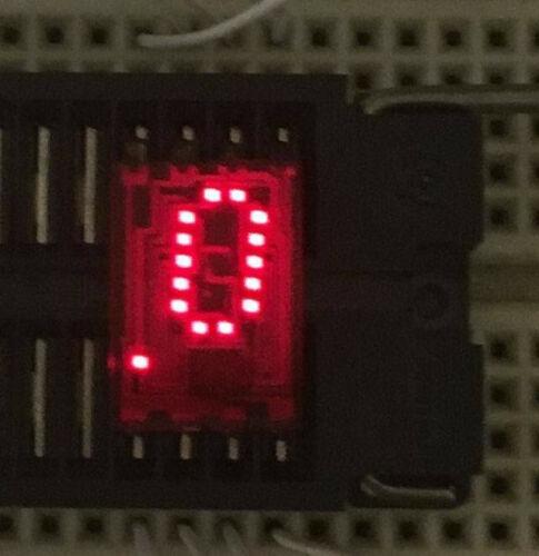 HP 5082-7302 Epoxy Numeric LH Decimal 4x7 Dot Matrix LED Displays Intense Graded