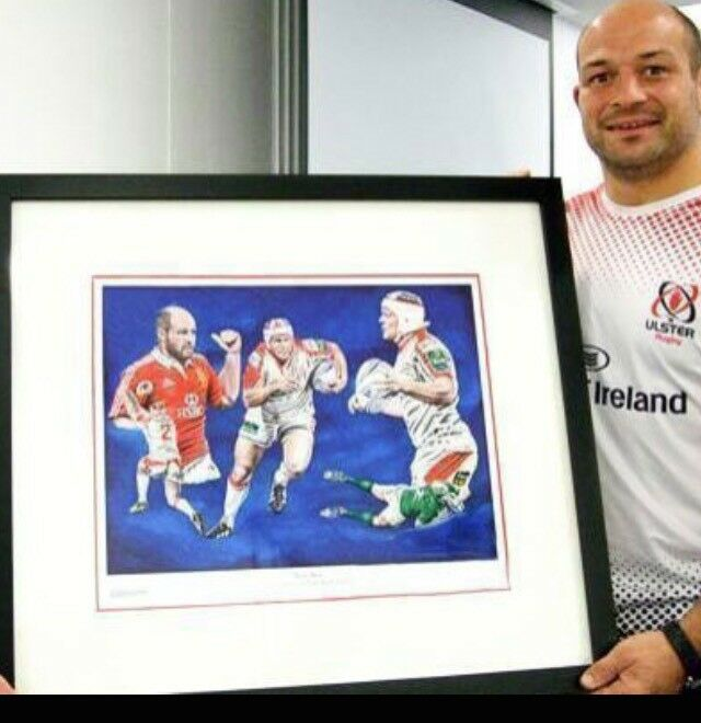 Limited edition Rory Best signed art