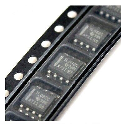 10pcs Tl082 Ic Ti Sop 8 Jfet-input Operational Amplifiers S8