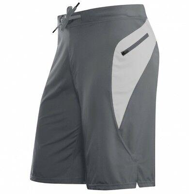 Herren Woven Zip (Hylete Verge II flex-woven zip-pocket Short gray/silver medium Crossfit)